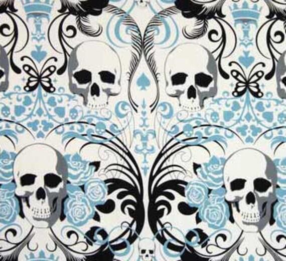Blue Regent Skulls by Alexander Henry - OOP, Rare and Hard to Find