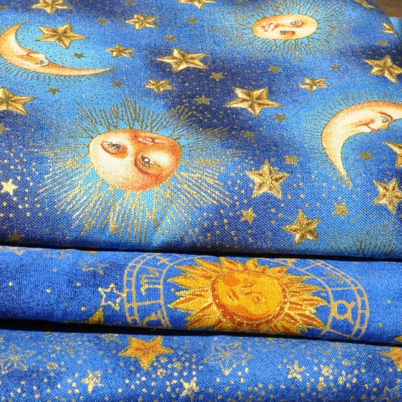Sun moon star celestial fabric pics about space for Sun moon fabric