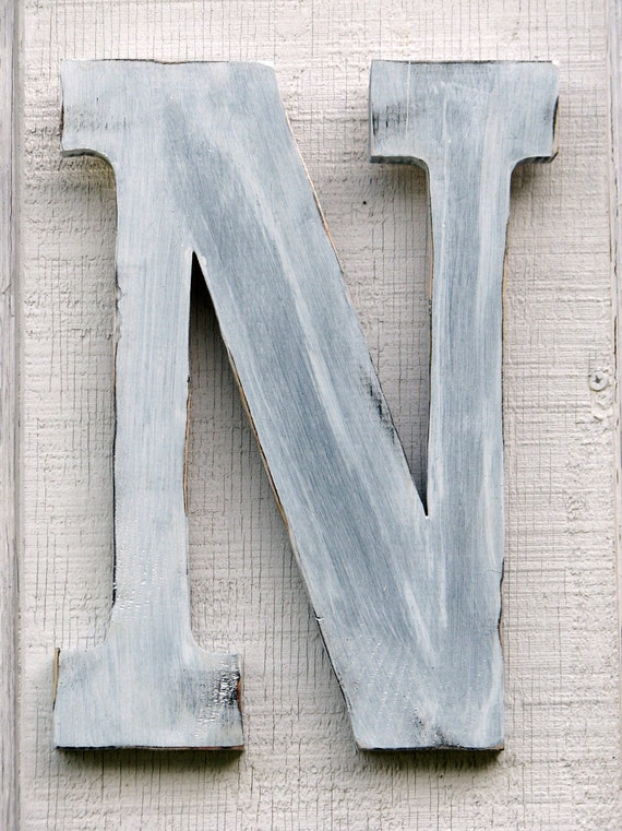 distressed wood letters rustic wooden letter n distressed painted white12 21380
