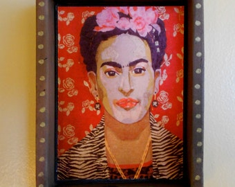 Frida's Shrine ( fs001), small hanging wall piece by Sandy Oppenheimer and Nansee New, Casa Luz