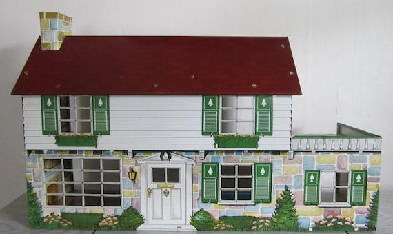 Vintage Marx Tin Colonial Sale Dollhouse