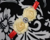 Ready To Ship//Yellow and Orange Shabby Chic Flower Headband//Beautiful Headband & Photo Prop