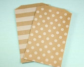middy bitty bags, brown kraft paper dots, chevron & honeycomb