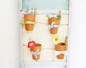 Planter Repurposed Vintage Washboard Vertical Hanging Planter Indoor Herb Garden Cottage Decor
