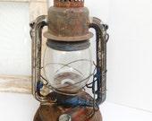 Vintage Lantern Paull's No. 30 Railroad Cabin Rustic Camping Lighting Fantastic Patina