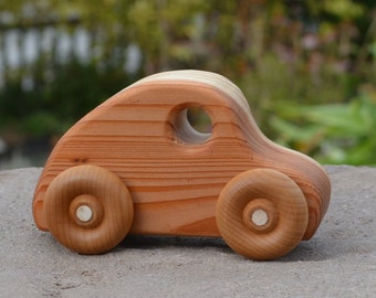 Coupe Redwood Wood Toy Car