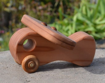 Airplane Redwood Wood Toy Plane