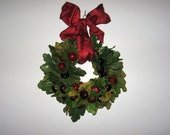 Small Wreath with Red Bow and Berries