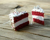 CLEARANCE Red Velvet Cake Earrings