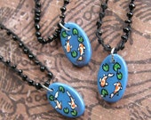 CLEARANCE Koi Hand painted charm necklace