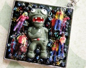 CLEARANCE Lots 'o' Zombies Pendant