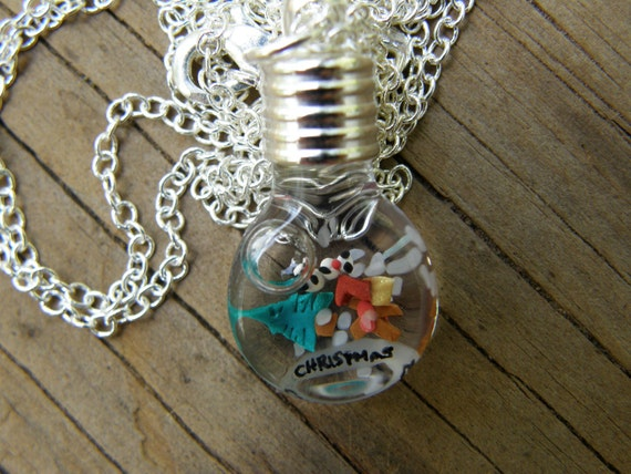 CLEARANCE Mini Christmas in a Vial Necklace