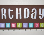 Birthday Reminder Board Basic Set: Tropical