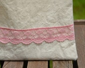 Reusable Sandwich Bag, Lace Sandwich Bag, Shabby Chic Bag, Cotton Lined Bag, Back To School