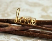 love, wire word ring Gold