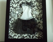 Shadow Box - Barbie Dress & Accessories Keepsake / Girls room decoration