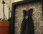 Shadow Box - Dolls clothes Keepsake / Girls room decoration
