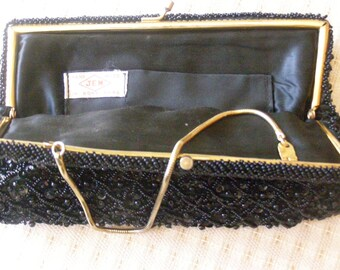 Beautiful Vintage Clutch Purse Beaded by J.E.M. in Hong Kong