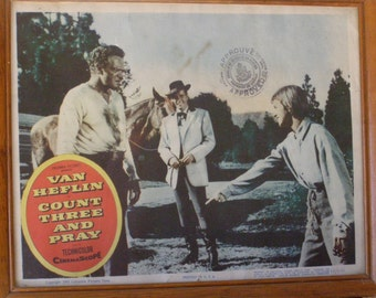 Lobby Card Count Three and Pray with Van Heflin in 1955 Technnicolor