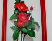 Tin tray with roses