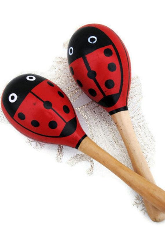 Ladybug maracas