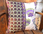 decorative cushion cover,purple beige 100 % cotton ,spring gift home,garden decor