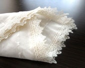 ivory cream  lace elegant  dotted table cloth
