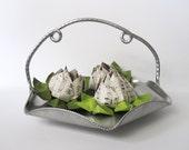 Cromwell Handwrought Metal Aluminum Basket, Kitchen Decor