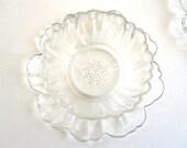 Glass Flower Bowls, Vintage Home Decor Dishes -- Set of 6-RESERVED FOR SHAUNA