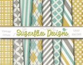 Digital Scrapbook Paper and Digital Paper Packs -- URBAN VINTAGE