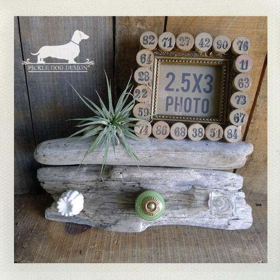 Driftwood Shelf. (No. 10) -- (Natural, Beach, OOAK, Jewelry Holder, Entryway Organizer, Unique Decor, Fun Housewarming Gift)