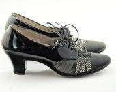 30s mesh patent leather heels pumps size 8