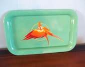 Vintage Parrot Tray