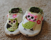 Adorable Owl Shoes- Size 5- Ready to Ship