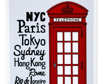 The Red Telephone Box - Illustration by: Taren S. Black