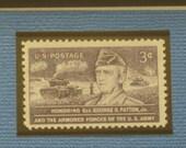 George S. Patton - Vintage Framed Stamp - No. 1026