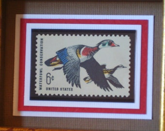 Vintage Wood Ducks Stamp- No. 1362, Version 2