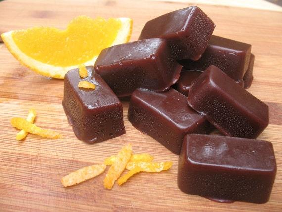 Vegan Organic Dark Chocolate Orange Caramels
