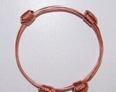 African Elephant Hair Bracelet - 4 Knot Copper from Zimbabwe