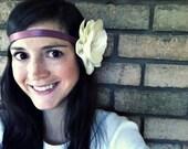 Hippie headband with flower