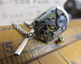 Rare International Watch Company (IWC) Watch Movement Tie Tack. Great for Fathers Day, Anniversary, Wedding or Just Because