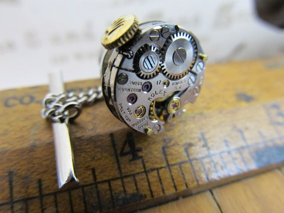 Rare Rolex 1401 Watch Movement Tie Tack. Great for Fathers Day, Anniversary, Wedding or Just Because