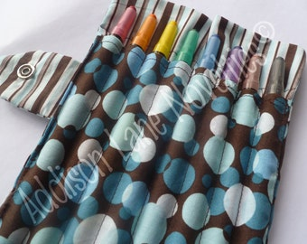 8 Crayola Twistable Crayons in our Addison Circles fabric - crayons included