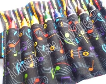 Music Notes Crayon Holder includes 8 Crayola Jumbo crayons