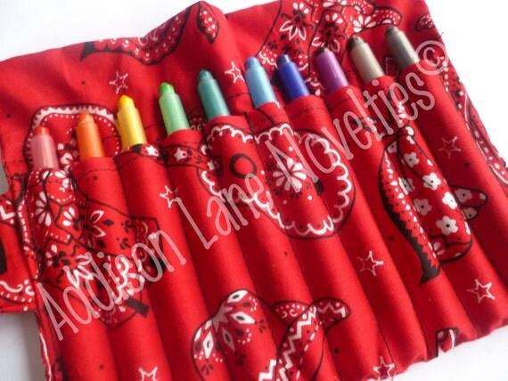 Cowboy Crayon Holder includes 10 Crayola twistable crayons