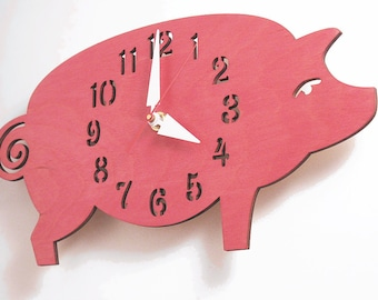 "The ""Possu"" designer wall mounted clock from LeLuni"
