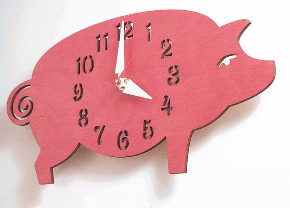 "The ""Possu"" designer wall mounted clock from LeLuni"