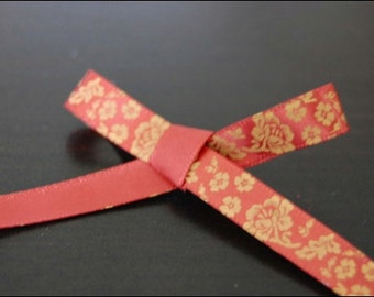 Rust/Rust Flower ribbon 3yds