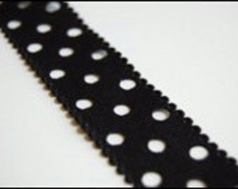 Hole punched grosgrain ribbon 1 yd
