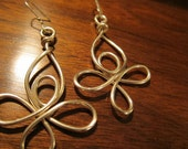 """Looped Silver Flower Earring 1/25"""" x 2"""""""